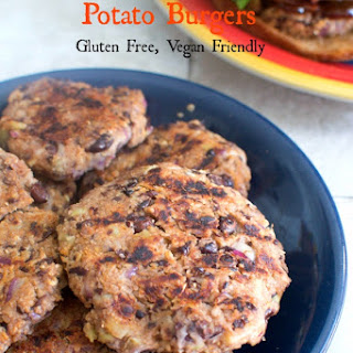 Spicy Black Bean and Sweet Potato Burgers