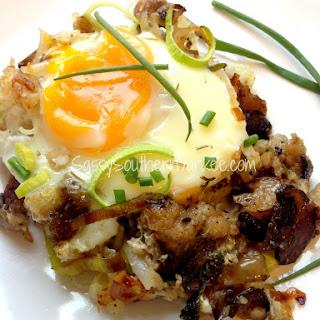 Thanksgiving Stuffing Breakfast Strata