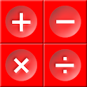 The Blazing Red Calculator icon
