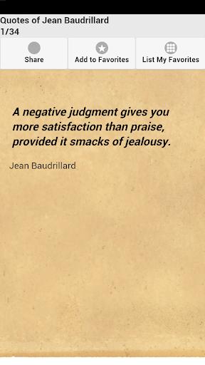 Quotes of Jean Baudrillard