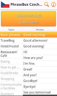 Phrasebook Czech Lite- screenshot thumbnail