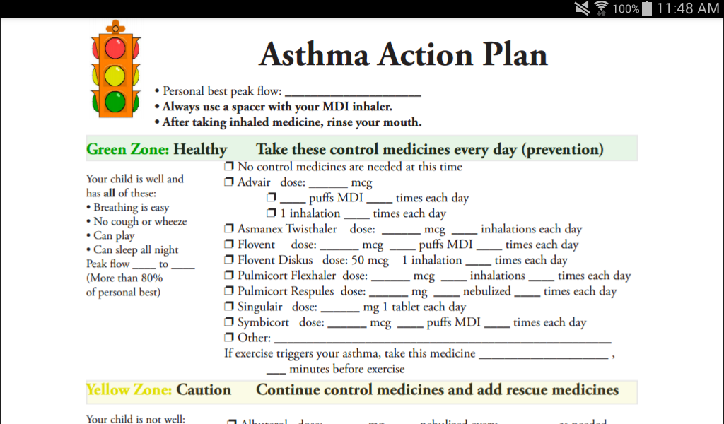 Our Journey with Asthma- screenshot