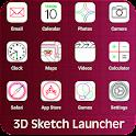 Sketch Theme Launcher 3D icon