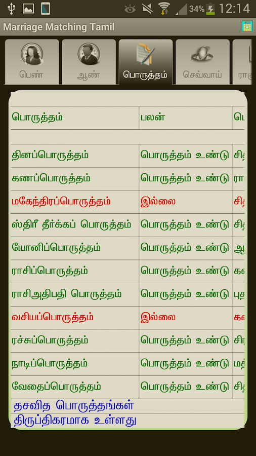 match making software in tamil