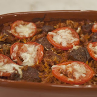 Lamb Baked with Orzo.