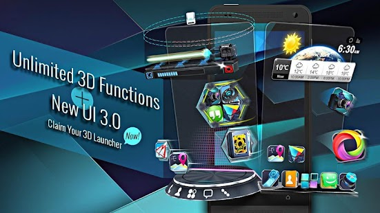 Next Launcher 3D Shell Lite- screenshot thumbnail