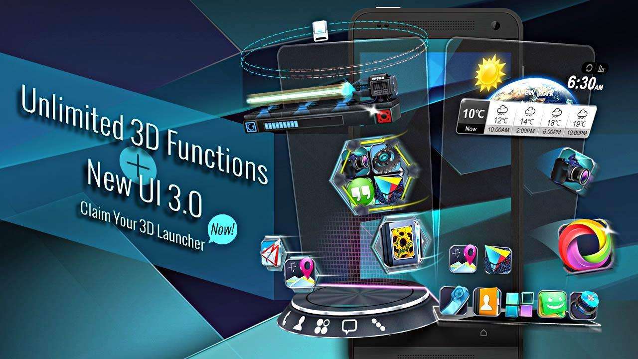 Next Launcher 3D Shell Lite - screenshot