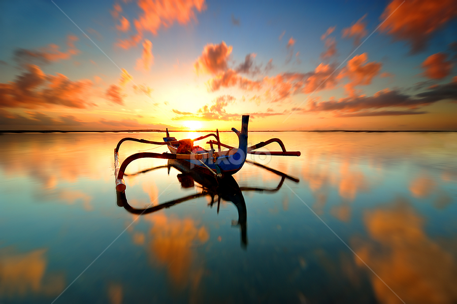 Reflections by Hendri Suhandi - Landscapes Waterscapes ( shore, clouds, bali, reflection, sunrise, travel )