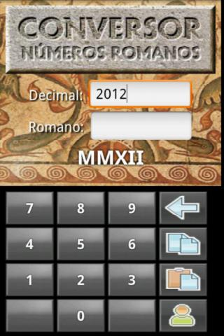 Números romanos - screenshot