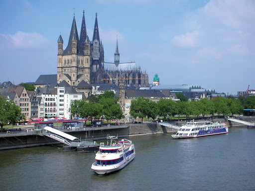 The Cologne Cathedral, a historic Gothic cathedral with great views of the Rhine River in Germany.