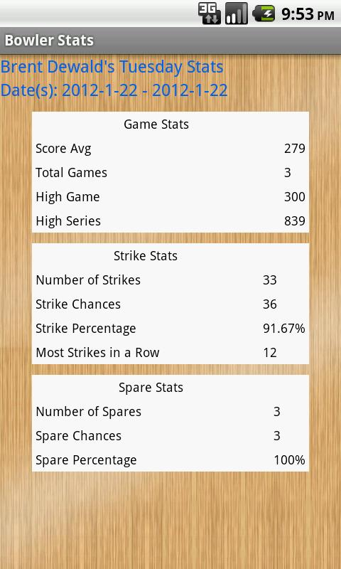 Good Bowler Stats - screenshot