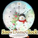 クリスマス時計ウィジェット☆スノードーム