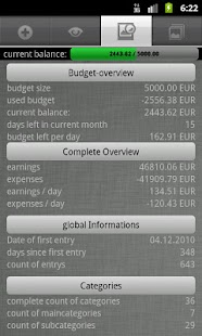 Budget Book (adFree) - screenshot thumbnail