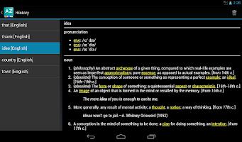 Screenshot of Online Dictionary