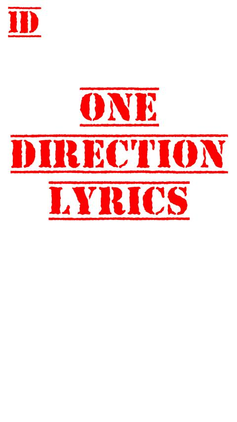 One Direction Lyrics- screenshot