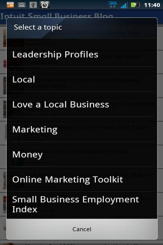 Small Business Blog - screenshot