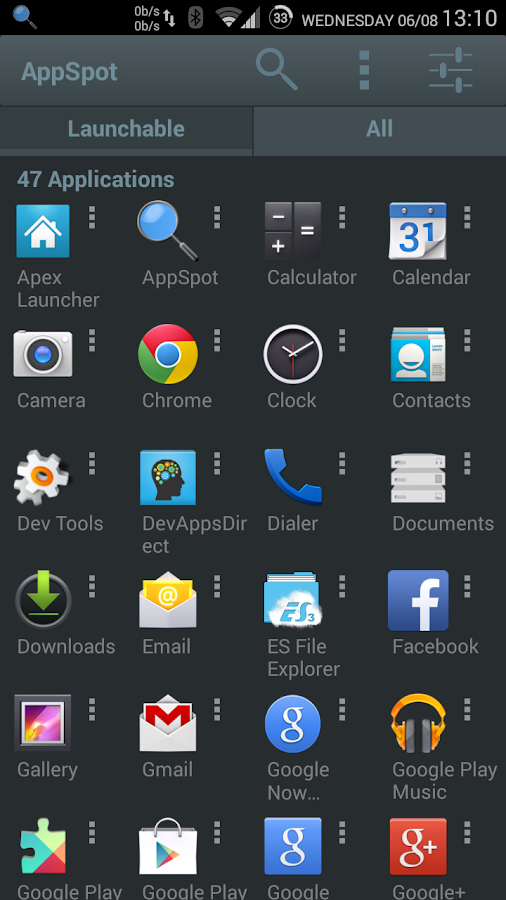 AppSpot- screenshot