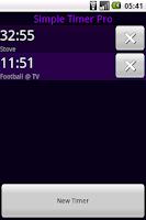 Screenshot of Simple Timer Pro
