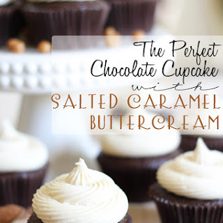 The Perfect Chocolate Cupcake with Salted Caramel Buttercream.