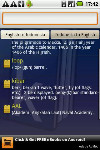 Kamus Dictionary Indonesia - screenshot