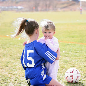 After The Game by Eddie Tuggle - Babies & Children Children Candids ( child, girls, sisters, children, soccer )