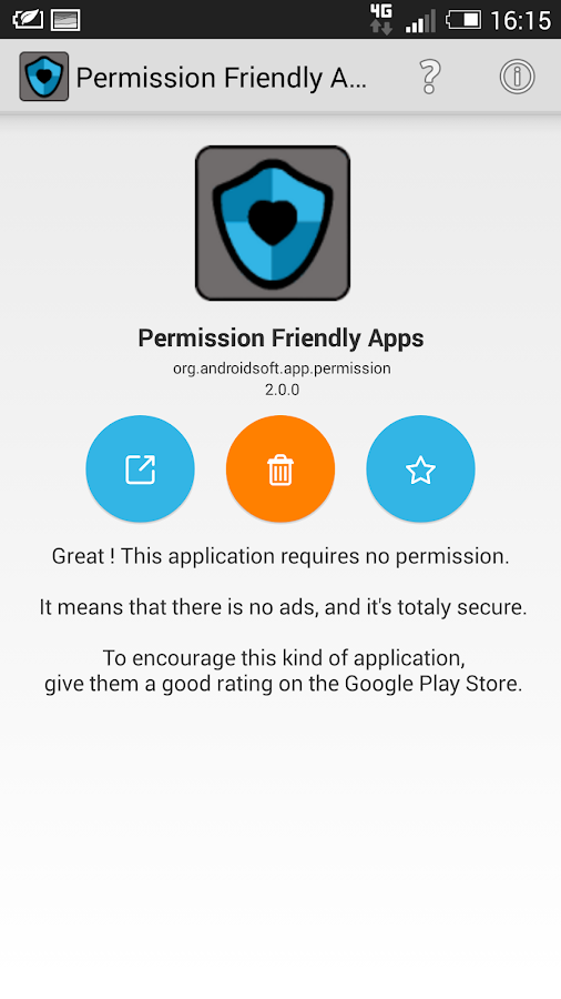 Permission Friendly Apps- screenshot