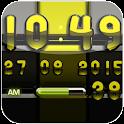 Digi Clock black lime widget icon