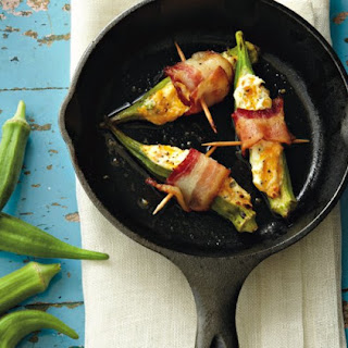 Cheese And Bacon Okra Poppers.