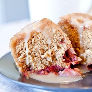 Microwave Strawberry Vanilla Mug Cake with Vanilla Glaze (with Vegan and Gluten Free Suggestions) Recipe
