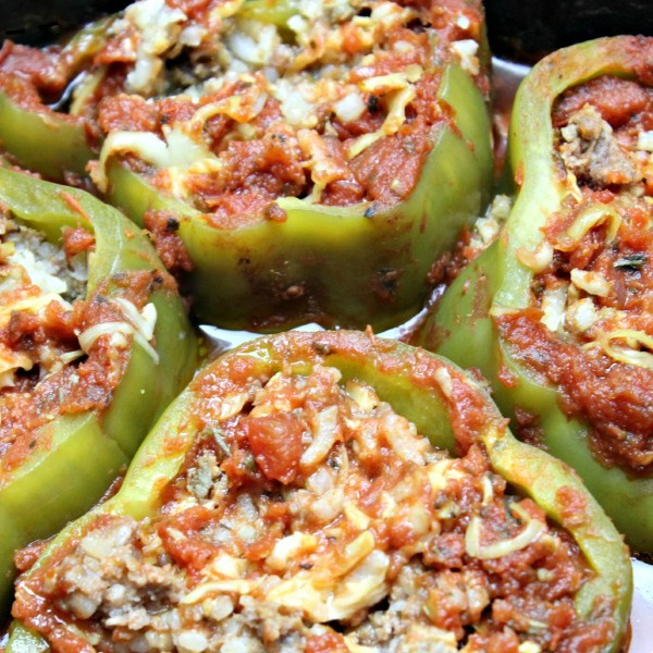 Slow - Cooker Healthy Stuffed Peppers