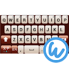 Maroon keyboard image icon