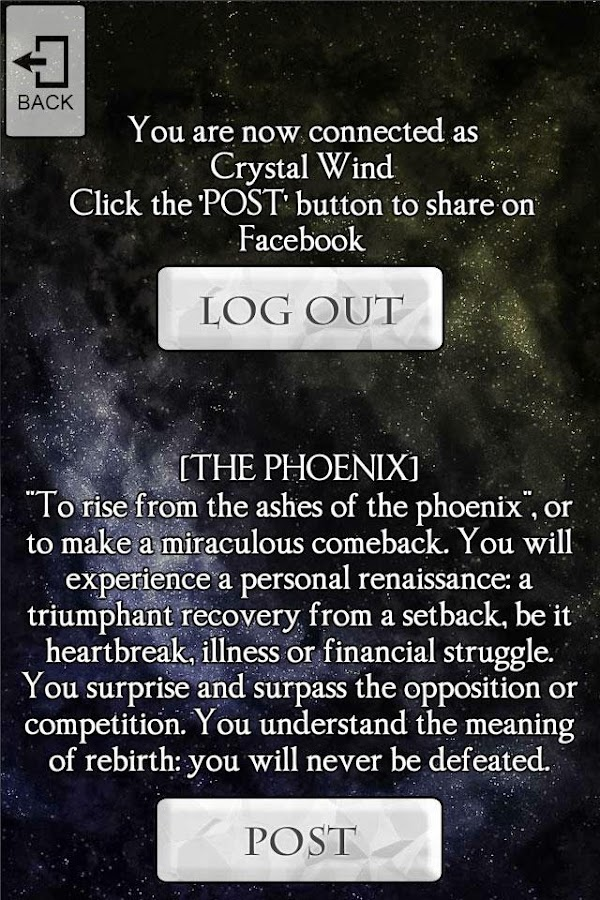 Crystal Wind Oracle Cards- screenshot