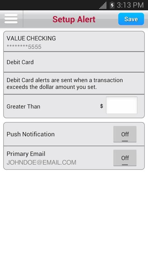 Bank of Texas Mobile- screenshot