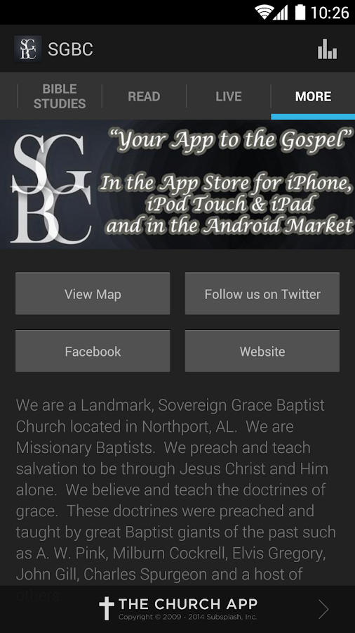 Sovereign Grace Baptist Church - screenshot
