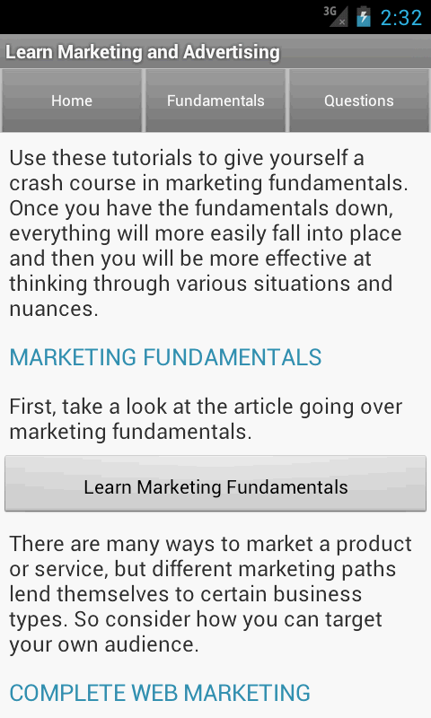 Learn Advertising & Marketing - screenshot