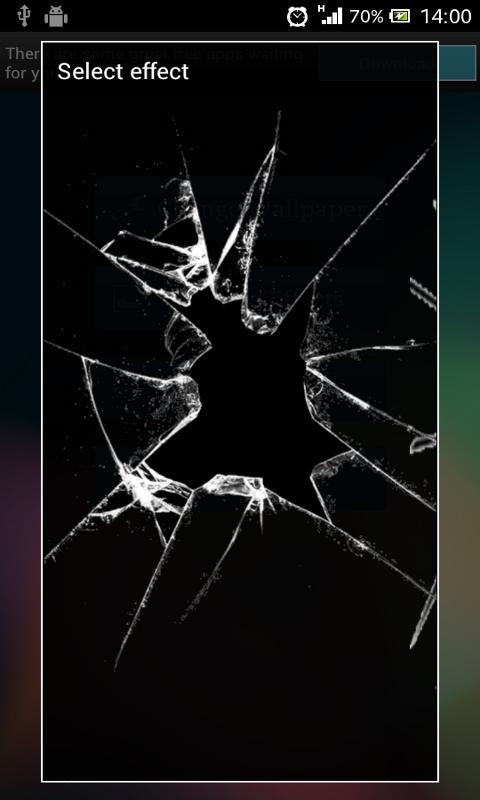 Crack Screen Live Wallpaper - screenshot