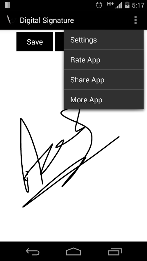 Digital Signature- screenshot