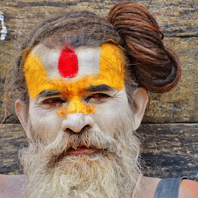 Monk by Domi Chung - People Portraits of Men ( religion, face, monk, nepali, men, close up, man, asian, photography, closeup, close, up,  )