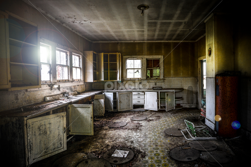 Old Kitchen By Michael Shaffer