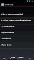 Screenshot of Daily Spiritual Quotes