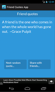 Friend quotes- screenshot thumbnail