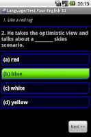 Screenshot of Test Your English II.