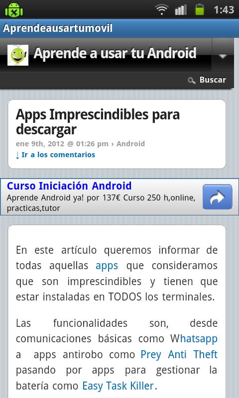 Aprende a usar tu movil - screenshot