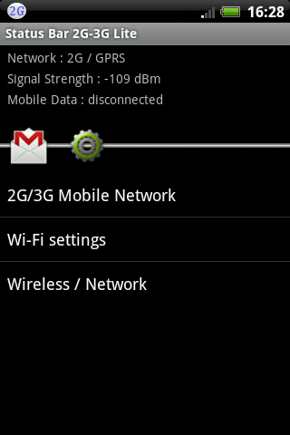 Status Bar 2G-3G Lite - screenshot