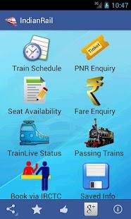 Download Indian Rail Train & IRCTC Info APK to PC