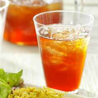 Sparkling Chilled Pomegranate Tea.
