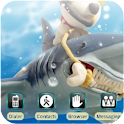 Monk Feeds Shark [SQTheme] ADW logo