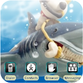 Monk Feeds Shark [SQTheme] ADW