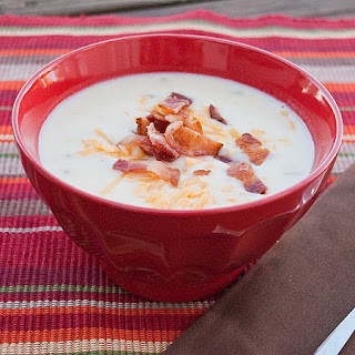 Cheesy Potato Soup in the Slow Cooker