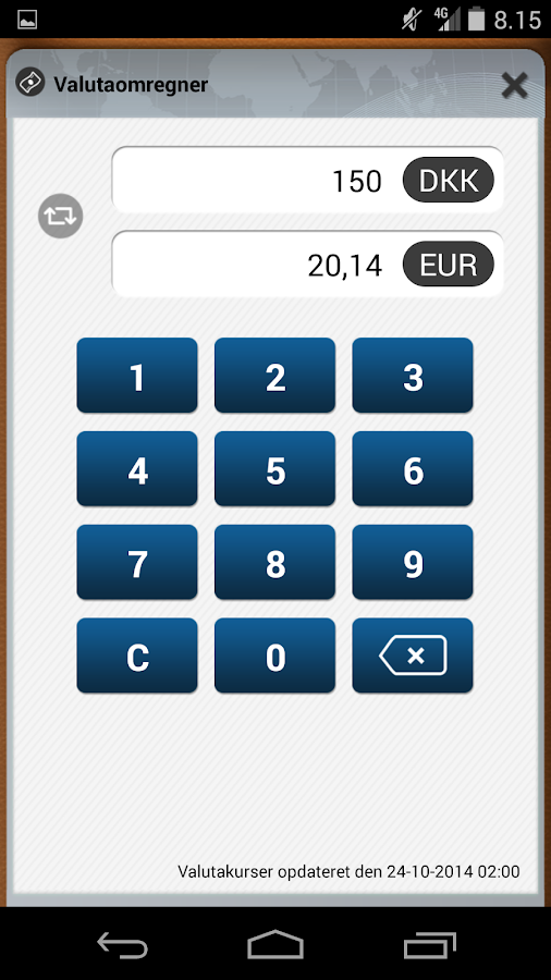 MasterCard Fordele – screenshot